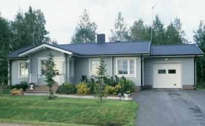 Проект одноэтажного дома KotiOnni 136.  Carmen 146.  Компания Koivisto предлагает готовые проекты...
